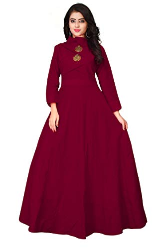Leriya Fashion Women's Rayon Anarkali Gown Type Kurta/Kurti