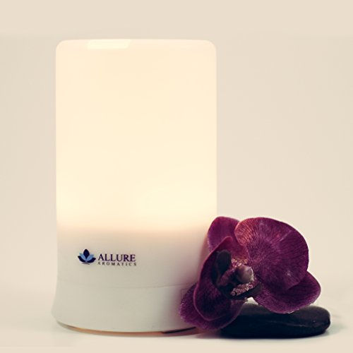 Aromatherapy Diffusers by Allure Aromatics ★ NEW IMPROVED TECHNOLOGY WITH MULTI COLORED LIGHTS ★ Cool Mist Humidifier for Relief from Asthma & Allergies ★ Essential Oil Diffuser with Multi Light Modes & Auto Shut-Off ★ Diffusers For Essential Oils