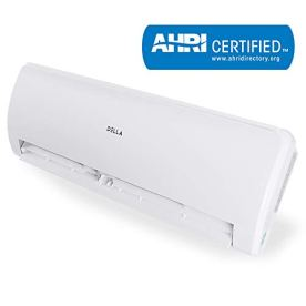 Della-12000-BTU-Mini-Split-Air-Conditioner-Ductless-Inverter-System-17-SEER-208-230V-with-1-Ton-Heat-Pump-Pre-Charged-Condenser-and-Full-Installation-Accessories-Kit-AHRI
