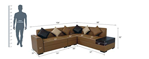 Muebles-Casa-Coral-Six-Seater-L-Shaped-Sofa-Tan-Brown