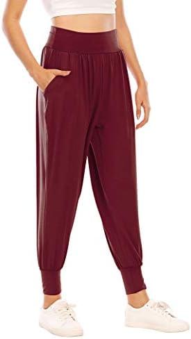 Zamowoty Womens Workout Sweatpants High Waist Yoga Joggers Running Pants Pajama Lounge Pants with Pockets 2