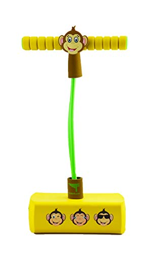 Flybar My First Pogo Pals Jumper for Kids Fun and Safe Pogo Stick for Toddlers, Durable Foam and Bungee Jumper for Ages 3 and up, Supports up to 250lbs (Monkey)