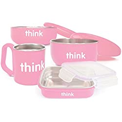 thinkbaby The Complete BPA Free Feeding Set, Pink