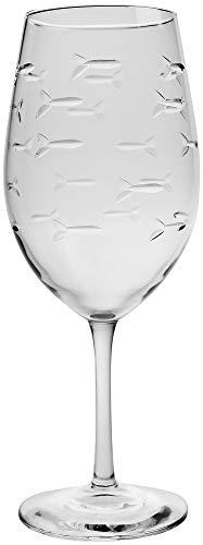 Rolf Glass 18 oz. School of Fish Wine Glass One Size