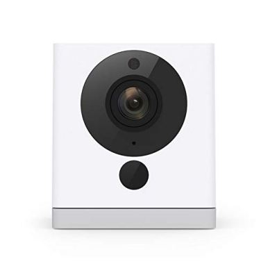 Wyze-Cam-1080p-HD-Indoor-WiFi-Smart-Home-Camera-with-Night-Vision-2-Way-Audio-Works-with-Alexa-the-Google-Assistant-White-1-Pack