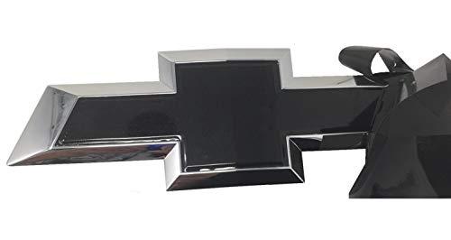 Qbc Craft Chevy Bowtie Emblem Vinyl Overlay (3 Pack) Gloss Black Metallic 3M Cut-Your-Own Car Wrap Kit DIY GM Logo Easy to Install air Release Film 12' x 4' Sheets (x3)