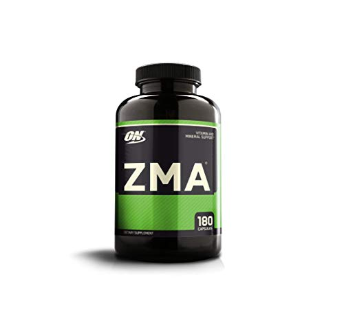 OPTIMUM NUTRITION ZMA Muscle Recovery and Endurance Supplement for Men and Women, Zinc and Magnesium Supplement, 180 Capsules