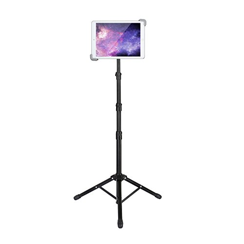 Elitehood Ipad Tripod Stand, Up to 65.3 Inch Height Adjustable Foldable Floor Tablet Stand With 360° Rotating Holder for iPad 1,2,3,4, iPad Mini, iPad Air, Samsung Galaxy and More 7.9' to 12' Tablets