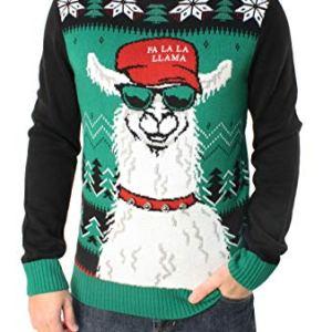 Ugly Christmas Sweater Company Men's Ugly Christmas Sweater-Xmas Llama