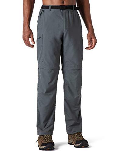 NAVISKIN Outdoor Convertible Pants para Hombre Gris XL