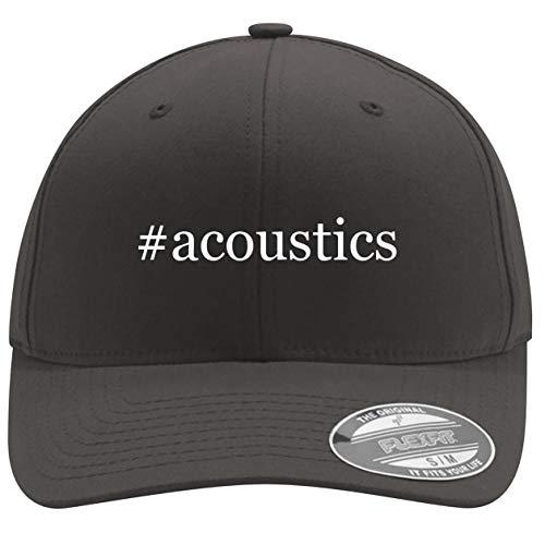 #Acoustics - Men's Hashtag Flexfit Baseball Hat Cap, Dark Grey, Small/Medium