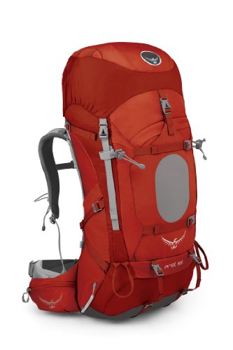 Osprey Women's Ariel 55 Backpack, Vermillion Red, Small
