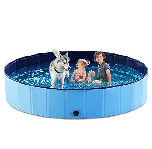 Jasonwell Foldable Dog Pet Bath Pool Collapsible Dog Pet Pool Bathing Tub Kiddie...