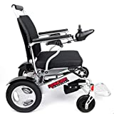 World's Widest Lightweight Folding Electric Wheelchair That Folds up! Heavy Duty, Dual Battery, Dual Motor Foldable Portable Exclusive Power Wheelchair (Ranger D09 XL 21' Seat Width) - Porto Mobility
