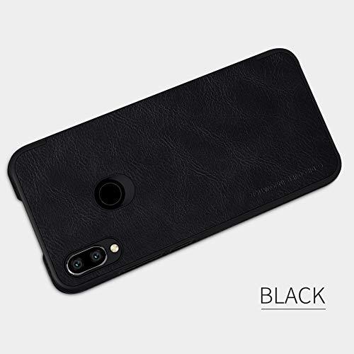 Nillkin Case for Xiaomi Redmi Note 7 Qin Genuine Classic Leather Flip Folio PC with Card Slot Black Color 4