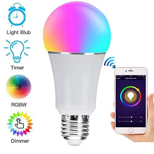 WINSUNY Bombilla LED Inteligente, E26 RGBW WiFi Smart Bulb 7W 600lm, WiFi Bombillas Inteligentes...