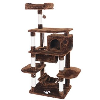 BEWISHOME-Cat-Tree-Condo-Furniture-Kitten-Activity-Tower-Pet-Kitty-Play-House-with-Scratching-Posts-Perch-Hammock-Tunnel-MMJ02