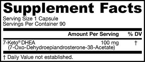 Jarrow Formulas 7-Keto DHEA, Enhances Metabolism, 100 mg, 90 Caps 4