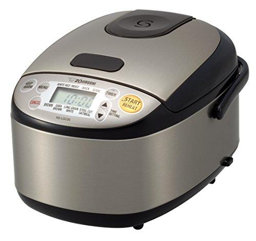 """Zojirushi 604976-NS-LGC05XB NS-LGC05XB Micom Rice Cooker & Warmer, 11.9 x 9.1 x 7.5"""", Stainless Black"""