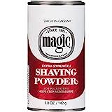 Razorless Shaving for Men by SoftSheen-Carson Magic Extra Strength Shaving Powder, For Coarse Textured Beards, Formulated for Black Men, Depilatory, Helps Stop Razor Bumps, Since 1901, 5 oz