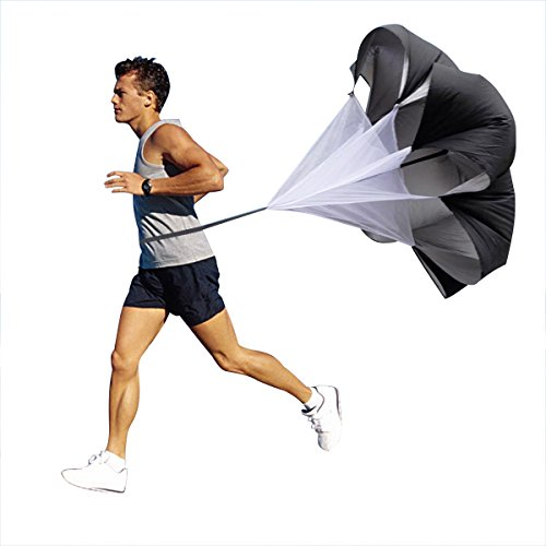 Aszune Speed Chute Resistance Parachute Physport 56 inch Running Parachute for Maximize Acceleration Power Speed Through Resistance and Overspeed Training