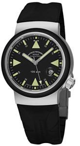 Muhle Glashutte S.A.R. Rescue-Timer Mens Automatic Dive Watch - 42mm Black Face with Luminous Hands, Magnified Date and Sapphire Crystal - Waterproof to 1000 Meters Made in Germany M1-41-03 KB