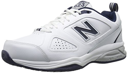 New Balance Men's MX623v3 Casual Comfort Training Shoe,  White/Navy, 12 M US