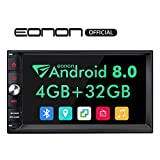 Double Din Car Stereo DVD Player,Android Car Stereo,Android 8.0 Car Stereo Radio 4GB+32GB with GPS and WiFi,Support Fastboot, Backup Camera with Sub Output,7 Inch Touch Screen(NO DVD/CD)