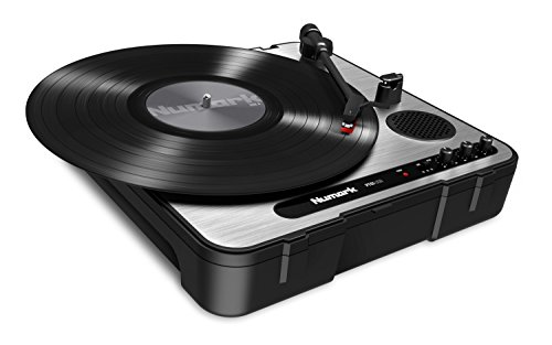 Numark PT01USB | Portable Vinyl-Archiving Turntable for 33 1/3, 45, 78 RPM Records