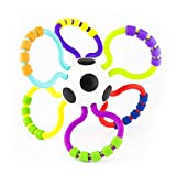 Sassy Grip & Rattle Ball | Developmental Toy for Early Learning | Flexible, Soft Plastic | for Ages 3 Months and Up