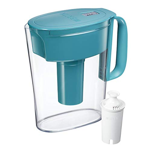 Brita Small 5 Cup Water Filter Pitcher with 1 Standard Filter, BPA Free - Metro, Turquoise