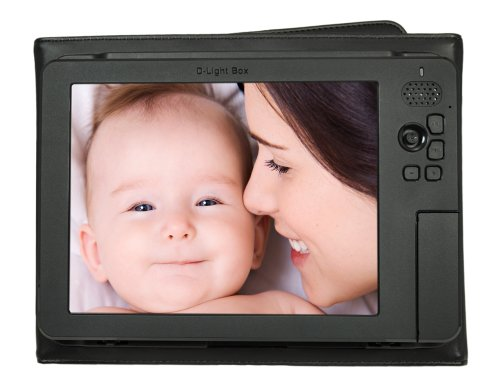 "Digital Foci 8"" - Portable Digital Photo Album/Frame Viewer with Battery and Portable - D-Light Box (DLB-081) (Black)"