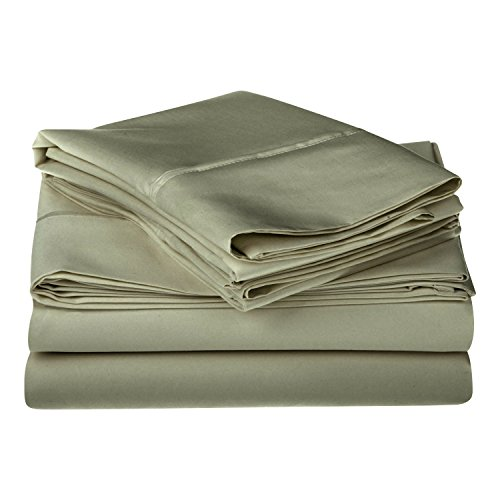 1200 Thread Count 100% Egyptian Cotton, Single Ply, King Bed Sheet Set, Solid, Sage