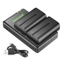 Neewer NP-F550 Battery Charger Set for Sony NP F970,F750,F960,F530,F570,CCD-SC55,TR516,TR716,and More (2-Pack…