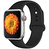 Misker Sport Band Compatible with Watch 42mm 38mm, Soft Silicone Strap Replacement Wristbands Compatible with iwatch Sport Series 3/2/1 Sports and Edition
