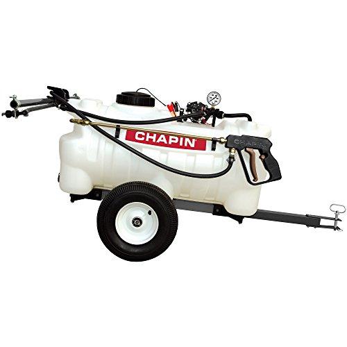 Chapin International 97700N EZ Dripless Tow Behind Sprayer, 25 gallons, Translucent White