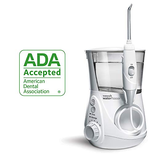 Waterpik Water Flosser Electric Dental Countertop Oral Irrigator For Teeth – Aquarius Professional, WP-660 White