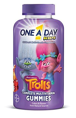 One-A-Day Kids Trolls Multivitamin Gummies, 180 Count