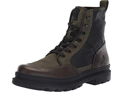 FRYE Men's Scout Combat Boot, Olive Multi, 10 M M US