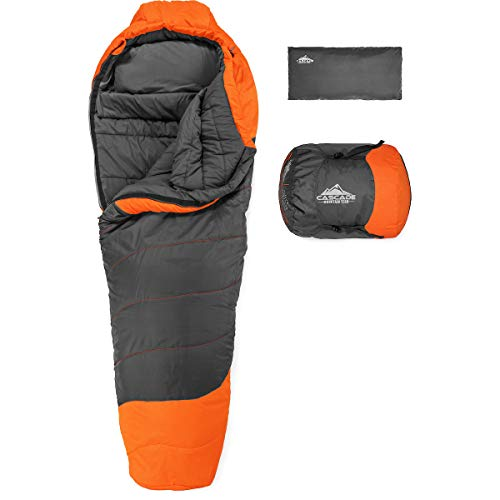 Cascade-Mountain-Tech-Mummy-Sleeping-Bag-with-Compression-Sack-Lightweight-for-Camping-backpacking-Outdoor-Adventures