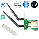 WiFi Card AC 1200Mbps,Wireless Network Card,Ubit 8260 Wireless Network Card with Bluetooth 4.2 Network Server Adapter,Dual-Band 5G/2.4G,PCI-E Wireless WI-FI Adapter Network Card for PC-Shipped From US