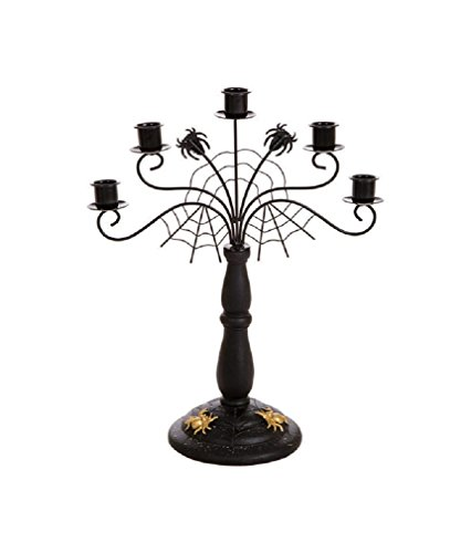 Celebrations Jk46335 Halloween Spider Web Candle Holder, 14