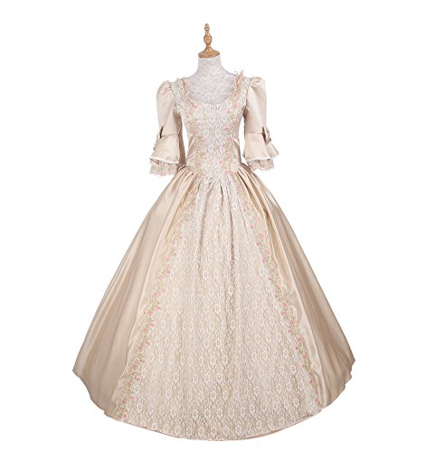 ROLECOS Womens Royal Vintage Medieval Dresses Lady Satin Gothic ...