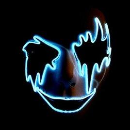 EL Wire Light Up Mask – Sky Blue