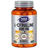 NOW Sports Nutrition, L-Citrulline, Extra Strength 1200 mg, 120 Tablets