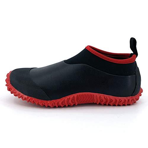 SYLPHID Unisex Waterproof Garden Shoes Womens Neoprene Rain Boots Mens Car Wash Footwear (8.5 M US Women/7 M US Men, Red)