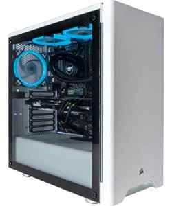 CUK Sentinel II VR Extreme Gaming PC (i9-9900K, 32GB RAM, 1TB NVMe SSD + 2TB HDD, NVIDIA RTX 2080 Ti 11GB, 600W PSU, Windows 10) The Best VR Ready Tower Desktop Computer for Gamers (Silver/Blue)