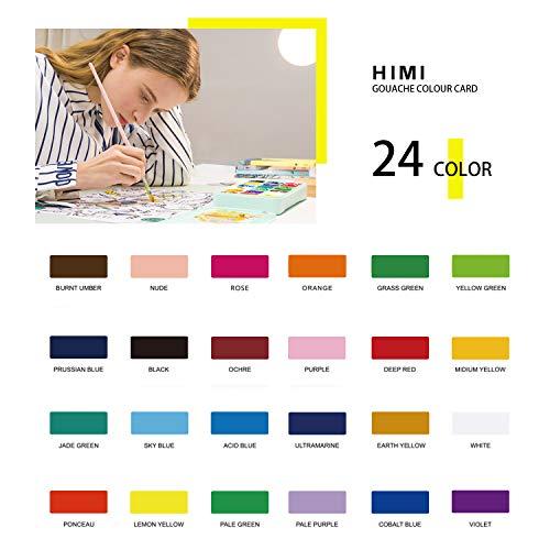 Himi Gouache Paint Set 24 Colors 30ml Pc Paint Set With Desktop Bucket Unique Jelly Cup Design Non Toxic Paints For Artist Hobby Painters Kids For Novelty Gift Pink Case Pricepulse