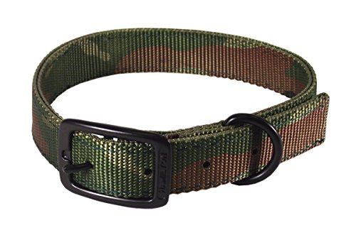 Hamilton Double Thick Nylon Sports Dog Collar 1 by 24-Inch