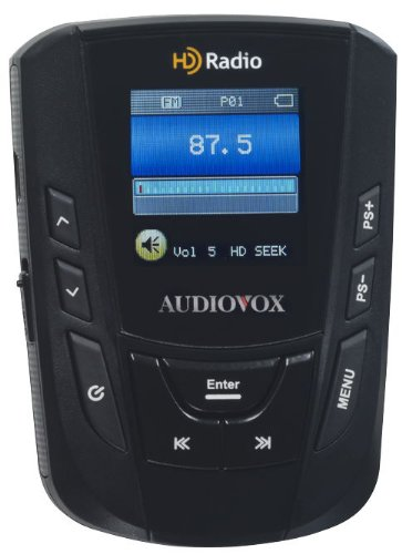 AudioVox IHDP01A Portable HD/FM Radio Player with Belt Clip and Armband